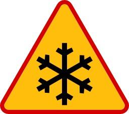 Panneau de risque de glace. Source : http://data.abuledu.org/URI/51385d1c-panneau-de-risque-de-glace
