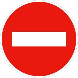Panneau de sens interdit B1. Source : http://data.abuledu.org/URI/513769dc-panneau-de-sens-interdit-b1