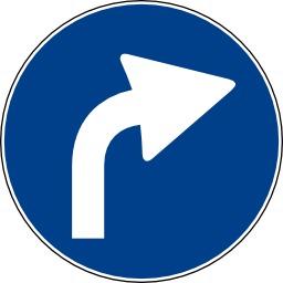Panneau de signalisation bleu. Source : http://data.abuledu.org/URI/5020c0d3-panneau-de-signalisation-bleu