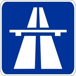 Panneau de signalisation d'une autoroute. Source : http://data.abuledu.org/URI/50ccd33f-panneau-de-signalisation-d-une-autoroute