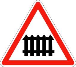 Panneau de signalisation de passage à niveau. Source : http://data.abuledu.org/URI/5092faef-panneau-de-signalisation-de-passage-a-niveau