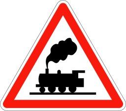 Panneau de signalisation de passage à niveau. Source : http://data.abuledu.org/URI/5092fb72-panneau-de-signalisation-de-passage-a-niveau