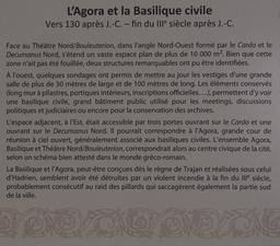 Panneau informatif sur l'Agora et la Basilique Civile à Jerash. Source : http://data.abuledu.org/URI/54b53f80-panneau-informatif-sur-l-agora-et-la-basilique-civile-a-jerash