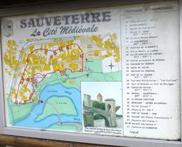 Panneau-plan de Sauveterre-de-Béarn. Source : http://data.abuledu.org/URI/586692e3-panneau-plan-de-sauveterre-de-bearn