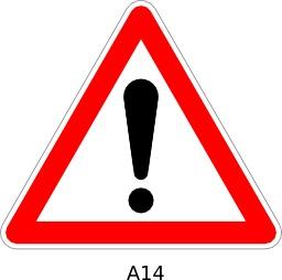 Panneau routier a14. Source : http://data.abuledu.org/URI/51a11a00--panneau-routier-a14