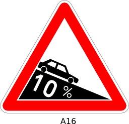 Panneau routier a16. Source : http://data.abuledu.org/URI/51a11a30--panneau-routier-a16