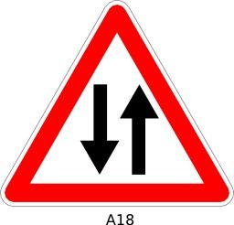 Panneau routier a18. Source : http://data.abuledu.org/URI/51a11a53--panneau-routier-a18