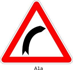 Panneau routier A1a. Source : http://data.abuledu.org/URI/51a11a66--panneau-routier-a1a