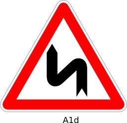 Panneau routier A1d. Source : http://data.abuledu.org/URI/51a11a8e--panneau-routier-a1d