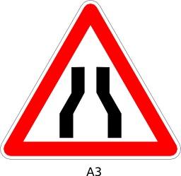 Panneau routier a3. Source : http://data.abuledu.org/URI/51a11b13--panneau-routier-a3