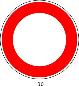 Panneau routier b0. Source : http://data.abuledu.org/URI/51a11c0b--panneau-routier-b0