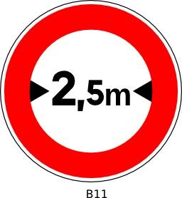 Panneau routier b11. Source : http://data.abuledu.org/URI/51a209ec--panneau-routier-b11