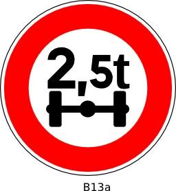 Panneau routier B13a. Source : http://data.abuledu.org/URI/51a20a23--panneau-routier-b13a