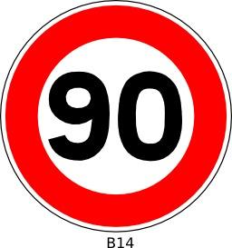 Panneau routier b14_90. Source : http://data.abuledu.org/URI/51a20a94--panneau-routier-b14-90