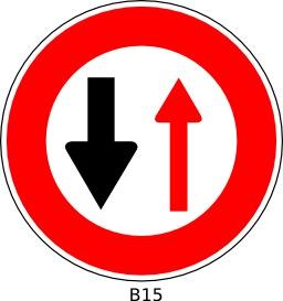 Panneau routier b15. Source : http://data.abuledu.org/URI/51a11fa6--panneau-routier-b15