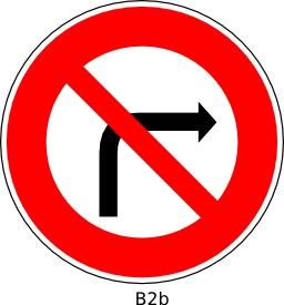 Panneau routier B2b. Source : http://data.abuledu.org/URI/51a120d3--panneau-routier-b2b