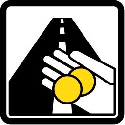 Panneau routier de péage. Source : http://data.abuledu.org/URI/513845c2-panneau-routier-de-peage