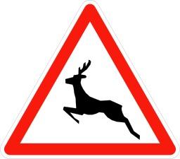 Panneau signalant le passage d'animaux. Source : http://data.abuledu.org/URI/50940165-panneau-signalant-le-passage-d-animaux