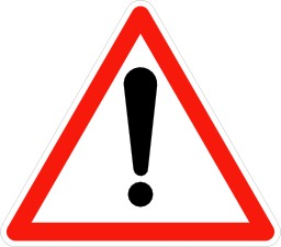 Panneau signalant un danger. Source : http://data.abuledu.org/URI/5093ffdd-panneau-signalant-un-danger