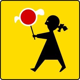 Panneau signalant un passage protégé pour les enfants. Source : http://data.abuledu.org/URI/51385f65-panneau-signalant-un-passage-protege-pour-les-enfants