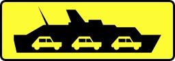 Panneau signalant un transbordeur. Source : http://data.abuledu.org/URI/51385eb0-panneau-signalant-un-transbordeur