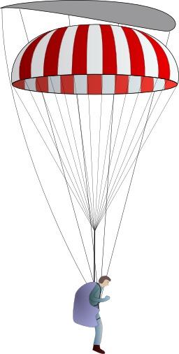 Parachutisme - suspentage. Source : http://data.abuledu.org/URI/5399ce99-parachutisme-suspentage