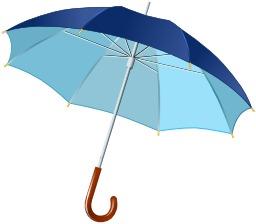 Parapluie bleu ouvert. Source : http://data.abuledu.org/URI/50318474-parapluie-bleu-ouvert