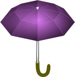Parapluie ouvert violet. Source : http://data.abuledu.org/URI/54045118-parapluie-ouvert-violet
