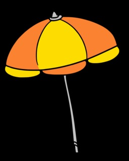 Parasol jaune et orange ouvert. Source : http://data.abuledu.org/URI/527af4db-parasol-jaune-et-orange-ouvert