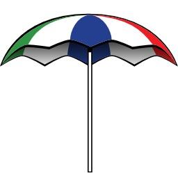 Parasol tricolore ouvert. Source : http://data.abuledu.org/URI/540673a7-parasol-tricolore-ouvert