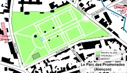 Parc des Promenades à Alençon. Source : http://data.abuledu.org/URI/508d0fca-parc-des-promenades-a-alencon