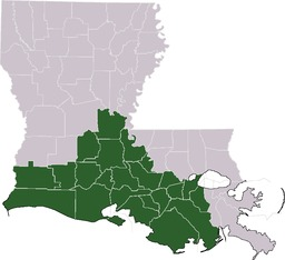 Paroisses d'Acadiana. Source : http://data.abuledu.org/URI/52bc5f76-paroisses-d-acadiana