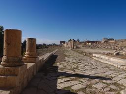 Partie nord du Cardo à Jerash. Source : http://data.abuledu.org/URI/54b534e5-partie-nord-du-cardo-a-jerash