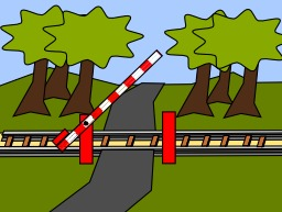 Passage à niveau en cours d'ouverture. Source : http://data.abuledu.org/URI/538e63d7-passage-a-niveau-en-cours-d-ouverture