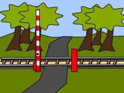 Passage à niveau ouvert. Source : http://data.abuledu.org/URI/538e64c8-passage-a-niveau-ouvert
