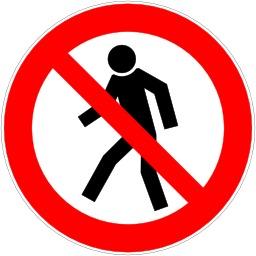 Passage interdit aux piétons. Source : http://data.abuledu.org/URI/51bf59e9-passage-interdit-aux-pietons