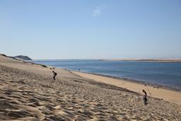 Passe sud du Bassin d'Arcachon vue depuis la Dune du Pilat en octobre 2014. Source : http://data.abuledu.org/URI/5451844e-passe-sud-du-bassin-d-arcachon-vue-depuis-la-dune-du-pilat-en-octobre-2014