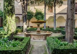 Patio de la Lindaraja de l'Alhambra de Grenade. Source : http://data.abuledu.org/URI/54cfc9e3-patio-de-la-lindaraja-en-andalousie