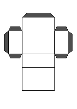 Patron de parallélépipède. Source : http://data.abuledu.org/URI/5403243e-patron-de-parallelepipede