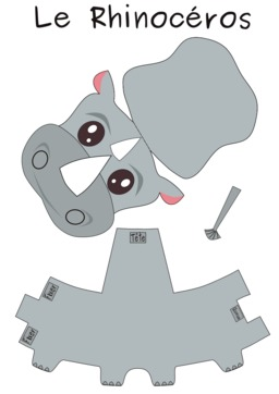 Patron de rhinocéros. Source : http://data.abuledu.org/URI/53f8d82c-patron-de-rhinoceros