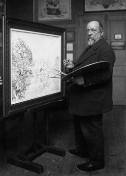 Paul Signac en 1923. Source : http://data.abuledu.org/URI/51b8b123-paul-signac-en-1923
