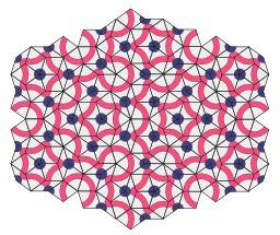 Pavage de Penrose avec tuiles apériodiques. Source : http://data.abuledu.org/URI/533af51a-pavage-de-penrose-avec-tuiles-aperiodiques