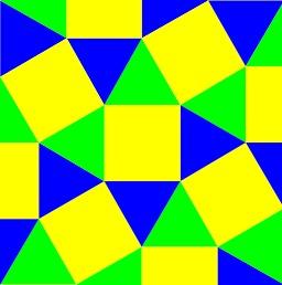 Pavage jaune, bleu et vert. Source : http://data.abuledu.org/URI/50bc1a63-pavage-jaune-bleu-et-vert