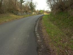 Pavés de voie romaine à Mozac. Source : http://data.abuledu.org/URI/545e2536-paves-de-voie-romaine-a-mozac