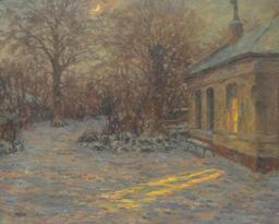 Pavillon un soir d'hiver. Source : http://data.abuledu.org/URI/52a7878d-pavillon-un-soir-d-hiver