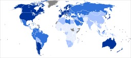 Pays du monde et développement en 2011. Source : http://data.abuledu.org/URI/50e7654d-pays-du-monde-et-developpement-en-2011