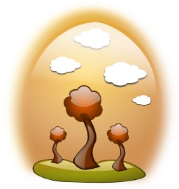 Paysage d'automne stylisé. Source : http://data.abuledu.org/URI/54043239-paysage-d-automne-stylise