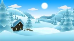 Paysage de neige. Source : http://data.abuledu.org/URI/583345f1-paysage-de-neige