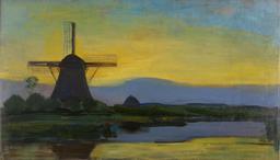 Paysage néerlandais au moulin. Source : http://data.abuledu.org/URI/54c4b7eb-paysage-neerlandais-au-moulin