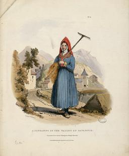 Paysanne de la Vallée de Gavarnie. Source : http://data.abuledu.org/URI/51fa89f2-paysanne-de-la-vallee-de-gavarnie